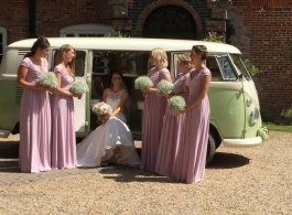Retro VW campervan wedding hire in Chichester